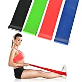 AGPtek Top Rated Exercise Resistance Loop Bands For Workout Exercise -- Stretching and Physical Therapy Strength Running Pilates Crossfit Training Yoga Set of 4 Light Medium Heavy and X-heavy Exercise Belts