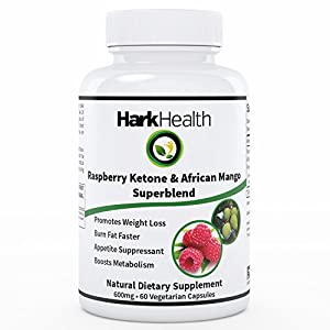 Pure Raspberry Ketones Plus Antioxidants African Mango And Green Tea Extract - 600 Mg All Natural Appetite Suppressant And Recommended Dietary Supplement With No Side Effects - Highest Quality Weight Loss Supplement With Metabolism Booster - Satisfaction