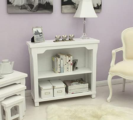 Agen low bookcase shelf white painted furniutre