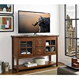 "WE Furniture Rustic Wood Console Table TV Stand, 52"", Brown"