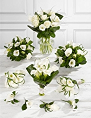 White Wedding Calla Lily Collection 4