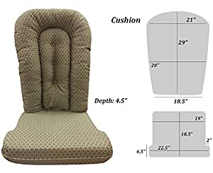 glider rocker replacement cushion set pewter fabric kitchen dining. Black Bedroom Furniture Sets. Home Design Ideas