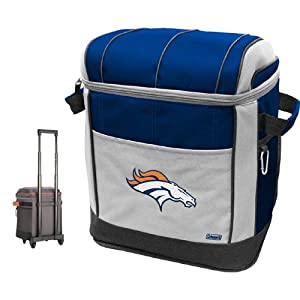 Buy NFL Denver Broncos 50 Can Soft Sided Rolling Coleman Cooler by Licensed Products