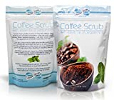 16 Oz Organic Coffee Body Scrub with Dead Sea Salts and Essence of Peppermint Oil - FREE EBOOK - Promotes Natural Collagen Production, Exfoliates Skin, Reduces cellulite and stretch marks