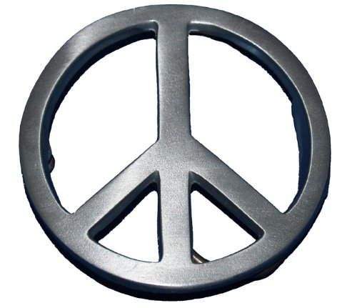 PEACE SIGN BELT BUCKLE COOL