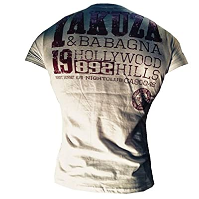 "Yakuza ORIGINAL T-Shirt ""Hollywood Hills"" - TSB 501 weiß NEU S-5XL"