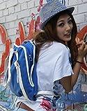 個性的でおしゃれ かわいいキャンバス ファッションバッグ シェル(cher)バッグ ショルダー トート ((ブルー))