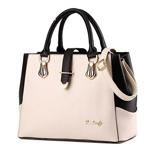 Mme sac à bandoulière/Messenger Bag/Noir et blanc couture sac à main