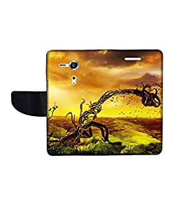 KolorEdge Printed Flip Cover For Sony Xperia SP Multicolor - (45KeMLogo11354XperiaSP)