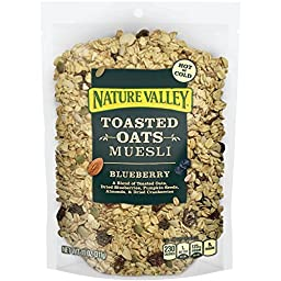 Nature Valley Toasted Oats Muesli, Blueberry, 11 Ounce (Pack of 4)