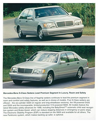1998 Mercedes Benz S320 S420 S500 S600 Factory Photo (S320 Mercedes compare prices)
