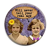 Funny Girlfriend Pocket Mirror For Purse Will Never Tell Your Real Age Great Bridesmaid Gifts Under $10 Or Gift...