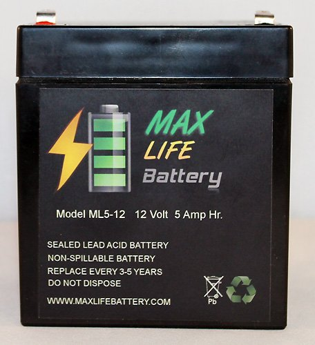 12V 5Ah Security Alarm Battery Replaces 4Ah Dsc Bd4-12