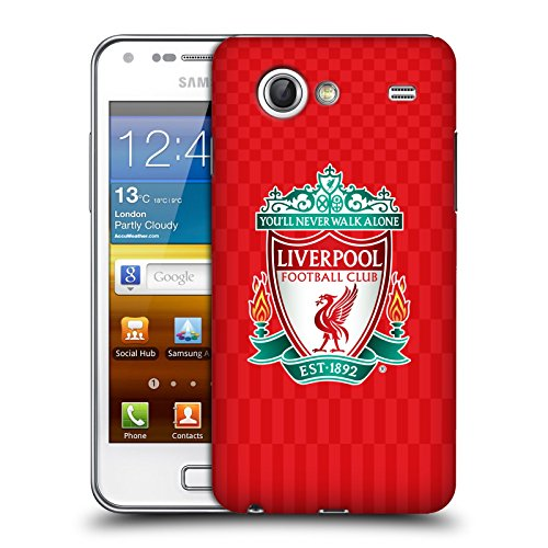 Ufficiale Liverpool Football Club Home Colori Design Crest Cover Retro Rigida per Samsung Galaxy S Advance I9070