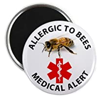 ALLERGIC TO BEES 2.25 inch Fridge Magnet from Creative Clam