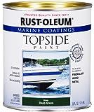 Rust-Oleum 207007 Marine Topside Paint, Deep Green, 1-Quart