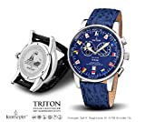 Kronsegler Triton Fishermens Watch Tidewatch steel-blue Sport