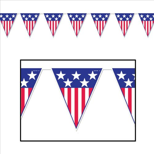 Spirit Of America Pennant Banner Party Accessory (1 count) (1/Pkg)