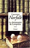 Le Dictionnaire De Lempriere (224647681X) by Lawrence Norfolk