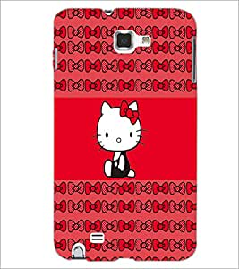 PrintDhaba Kitty D-4544 Back Case Cover for SAMSUNG GALAXY NOTE 1 (Multi-Coloured)