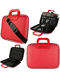 Easy Cady Collection Durable Briefcase Carrying Laptop Tab Ipad Mini Macbook Air Case With Removable Shoulder...