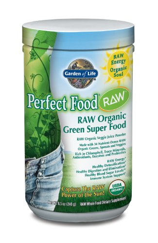 Garden of Life Perfect Food Raw Organic Powder Nutritional Supplement, 240 Grams