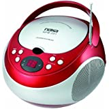 NAXA Electronics NPB-251RD Portable CD Player with AM/FM Stereo Radio