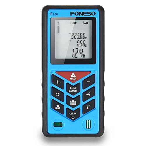 Laser Measure, Foneso F100 328ft Distance Measurering Tool with 100m Range and Backlit Display