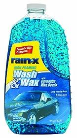 Rain-X 5077557 Wash and Wax with Carnauba Wax Beads - 64 oz.