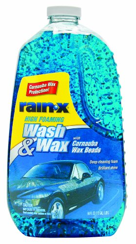 Rain-X 5077557 Wash and Wax with Carnauba Wax Beads - 64 oz.