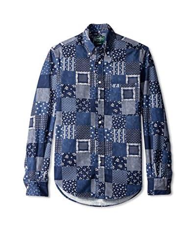 Gitman Vintage Men's Patchwork Check Button Down Shirt