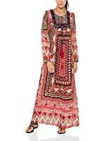 Tantra Vestido Largo Long print with Embroidery Chest (Rojo)