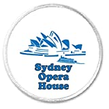 "A&T Designs QTY 5 Sydney Opera House 3"" Sew On Patches Australa Arts"