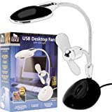 Journeys Edge 2 in 1 Laptop Desk LED Lamp and Fan - Powered by USB (72-24888)