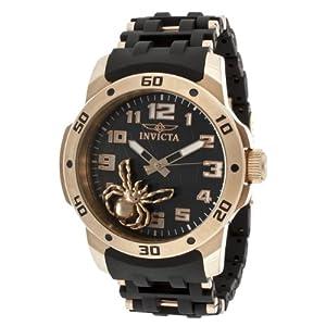 Invicta Men's 10297 Sea Spider Black Dial Black Polyurethane Watch