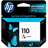 HP 110 CB304AN#140 Tri-Color Ink Cartridge in Retail Packaging