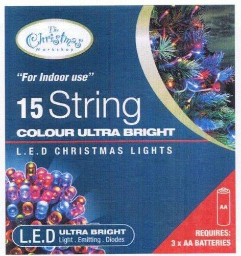 Batteriebetriebene LED-Lichterkette 15 Lampen Coloured - Static (ideale Nutzung für W. ..