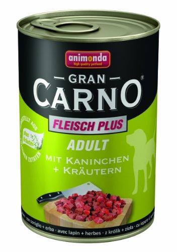 Bild von: Animonda Gran Carno Hundefutter Adult mit Kaninchen + Kräutern 400 g, 6er Pack (6 x 400 g)