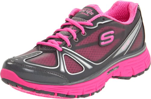 Skechers Women's Tone-Ups Fitness Ready Set - Excite Charcoal/Hot Pink Training Shoes 11760 2 UK