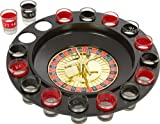 Shot Glass Roulette Drinking Game Set-Includes 16 Shot Glasses, Spinning Wheel and Roulette Balls