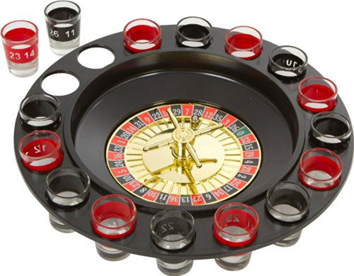 Review Of Shot Glass Roulette Drinking Game Set-Includes 16 Shot Glasses, Spinning Wheel and Roulett...