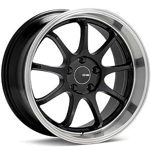 18×8 Enkei Tenjin (Black w/ Machined Lip) Wheels/Rims 5×114.3 (478-880-6535BK)