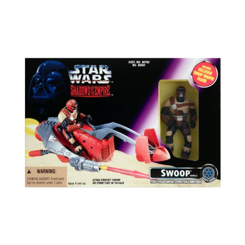 Star Wars Shadows of the Empire Swoop Vehicl with Trooper and Toops WideVision Cards