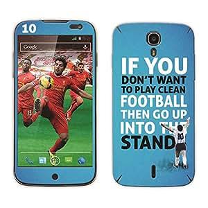 Bluegape Xolo Q2500 Diego Maradona Football Player Mobile Skin Cover, Blue