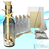 20 Beach Theme Message In A Bottle Invitations (Glass)- Ocean Shores