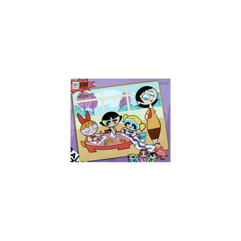 100pc. Powerpuff Girls Doing Arts and Crafts Puzzle