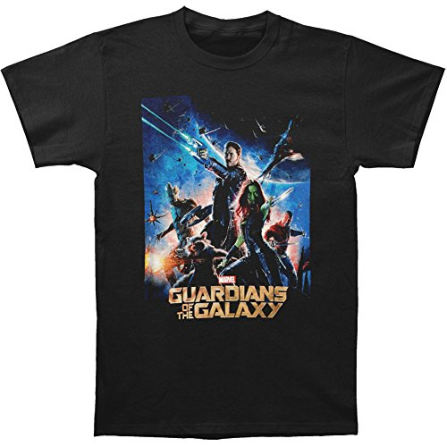 Guardians of the Galaxy Movie Poster Men's SS T-shirt -Black