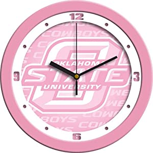 Oklahoma State Cowboys NCAA Wall Clock (Pink) by SunTime