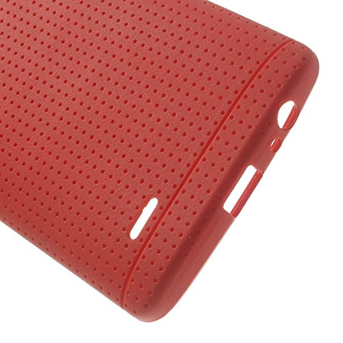 JUJEO Dream Mesh TPU Case Shell for LG G3 D850 D855 LS990 - Retail Packaging - Red