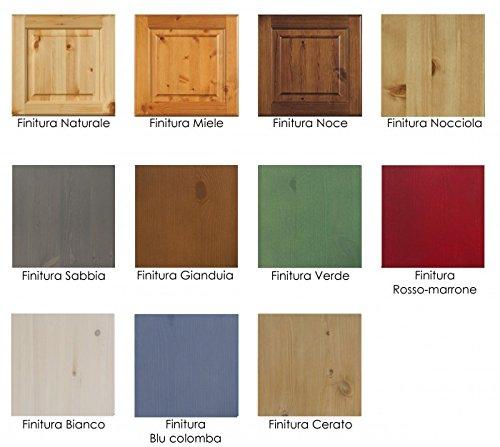 Cucina rustica in legno massello l240 colore miele for Moduli per cucine componibili